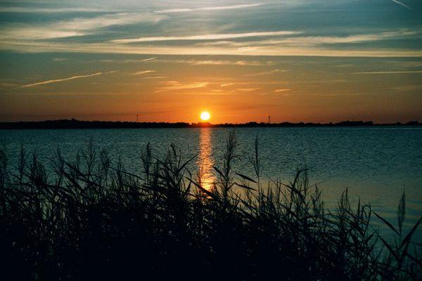 Sonnenuntergang über Hiddensee