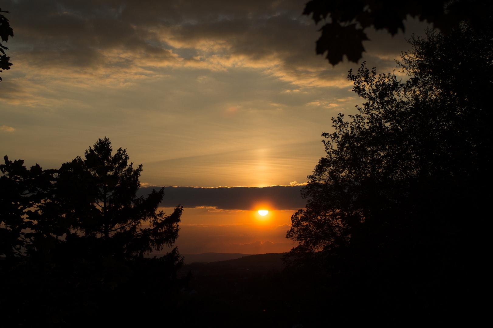 Sonnenuntergang über Hildesheim