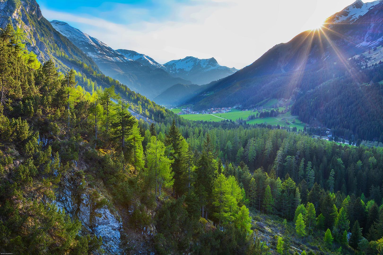 Sonnenuntergang über Holzgau