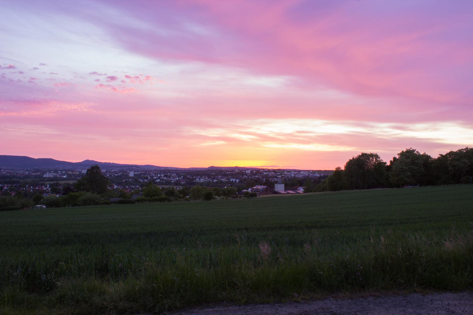 Sonnenuntergang über Kassel