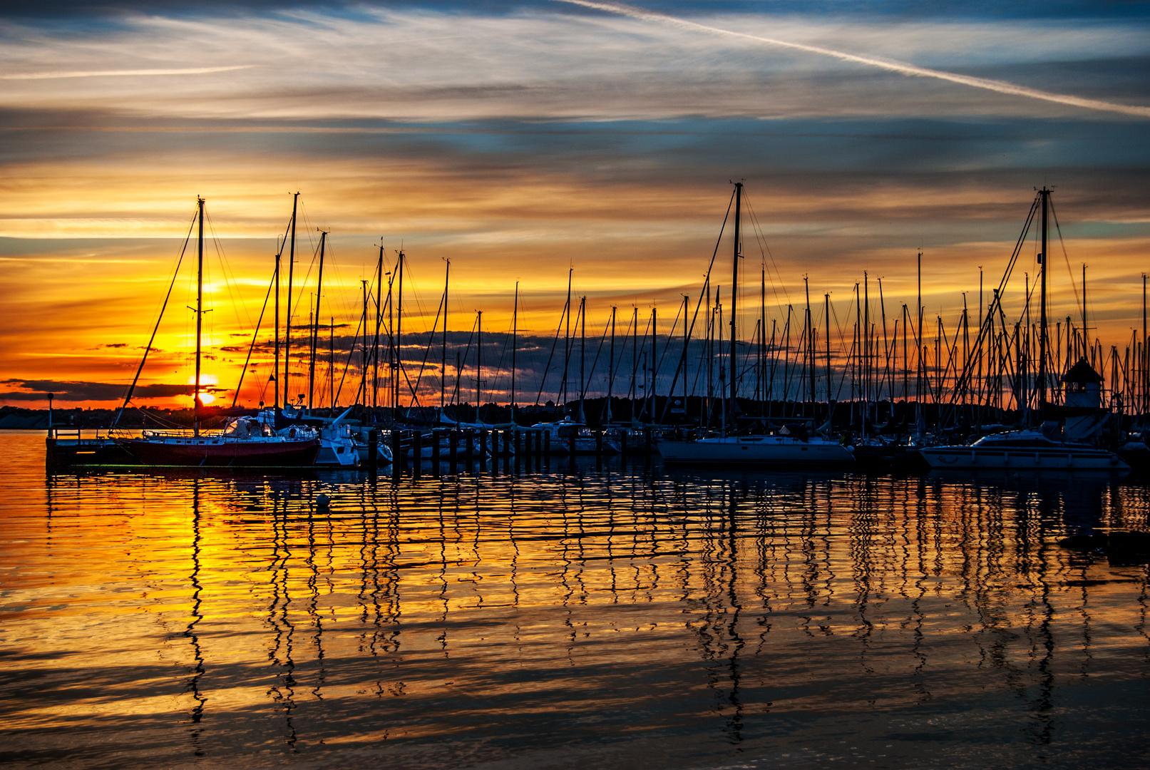 Sonnenuntergang über Kiel aus Sicht von Mönkeberg (4)