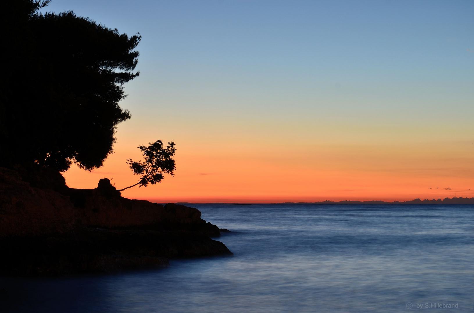 Sonnenuntergang über Kroatien