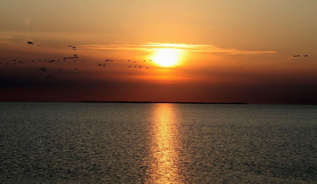 Sonnenuntergang über Langeoog
