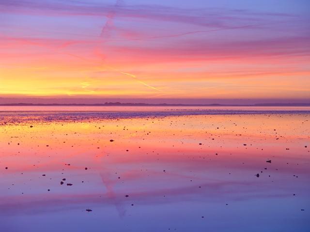 Sonnenuntergang über Langli