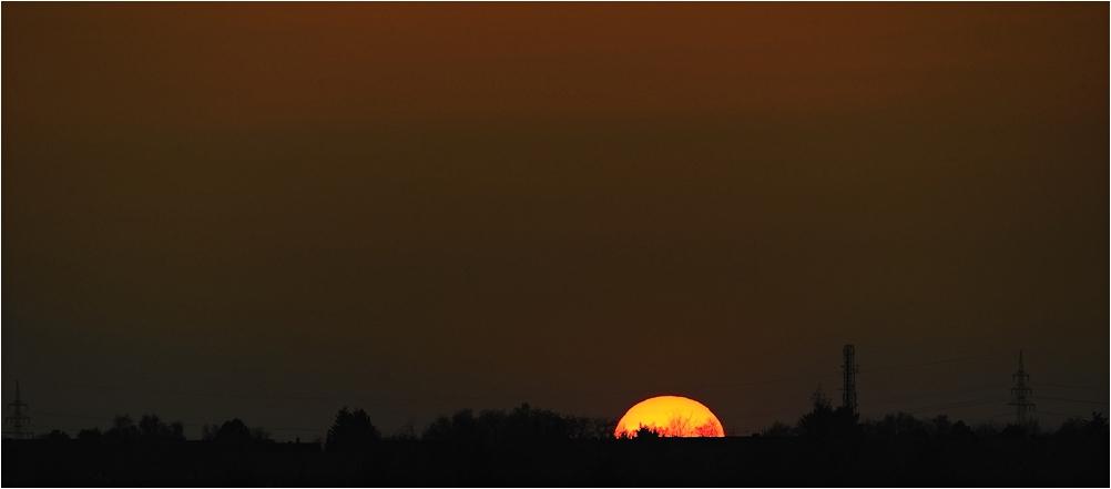 Sonnenuntergang über Lüneburg