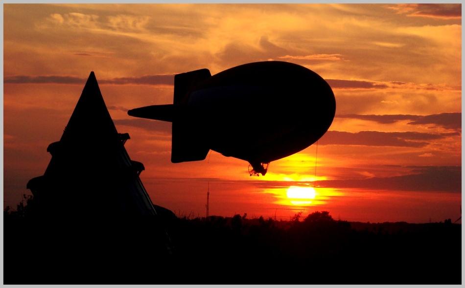 Sonnenuntergang über Magdeburg