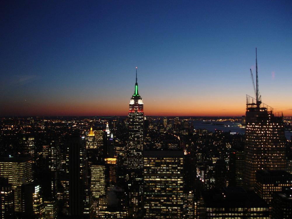 Sonnenuntergang über Manhatten