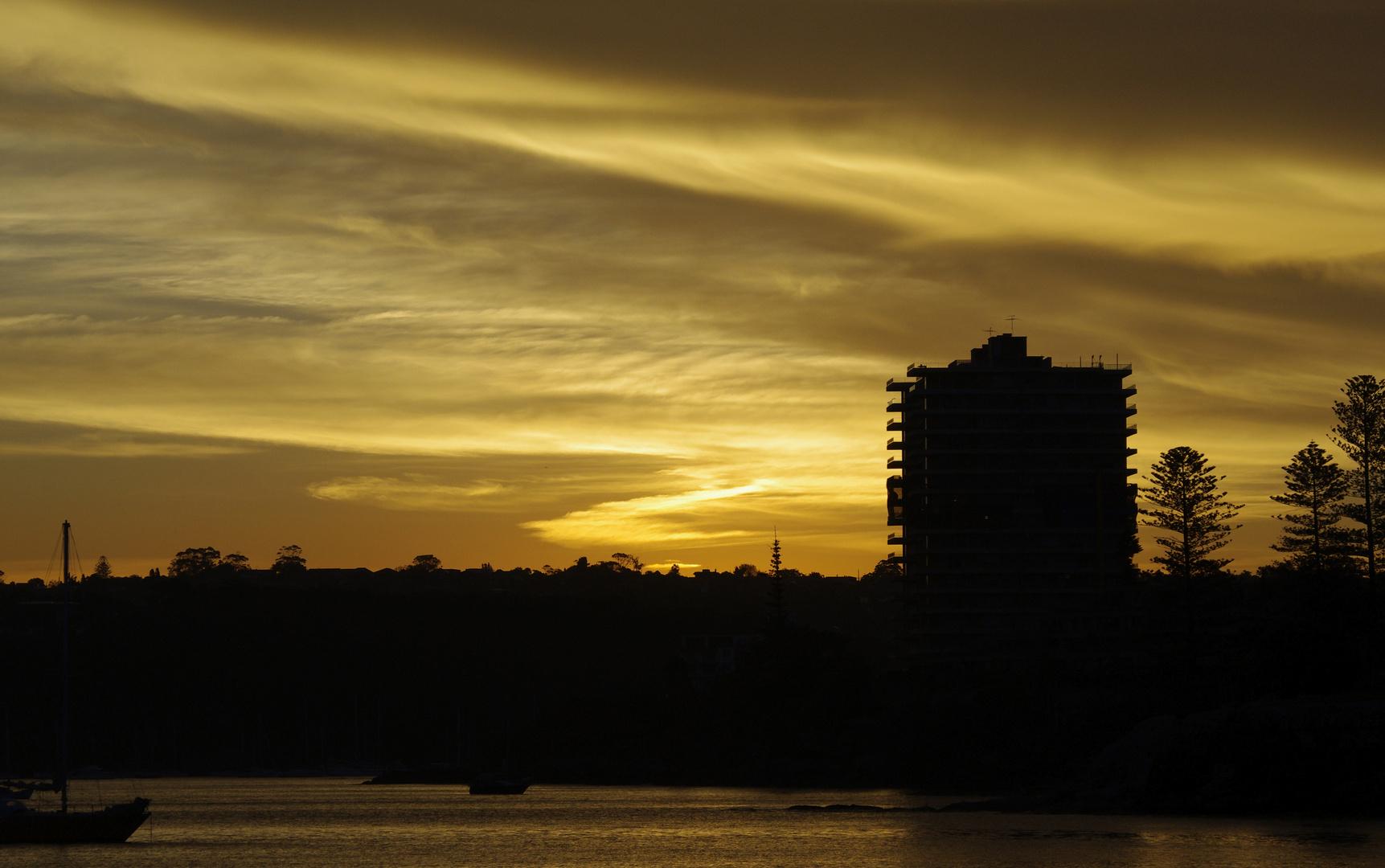 Sonnenuntergang über Manly
