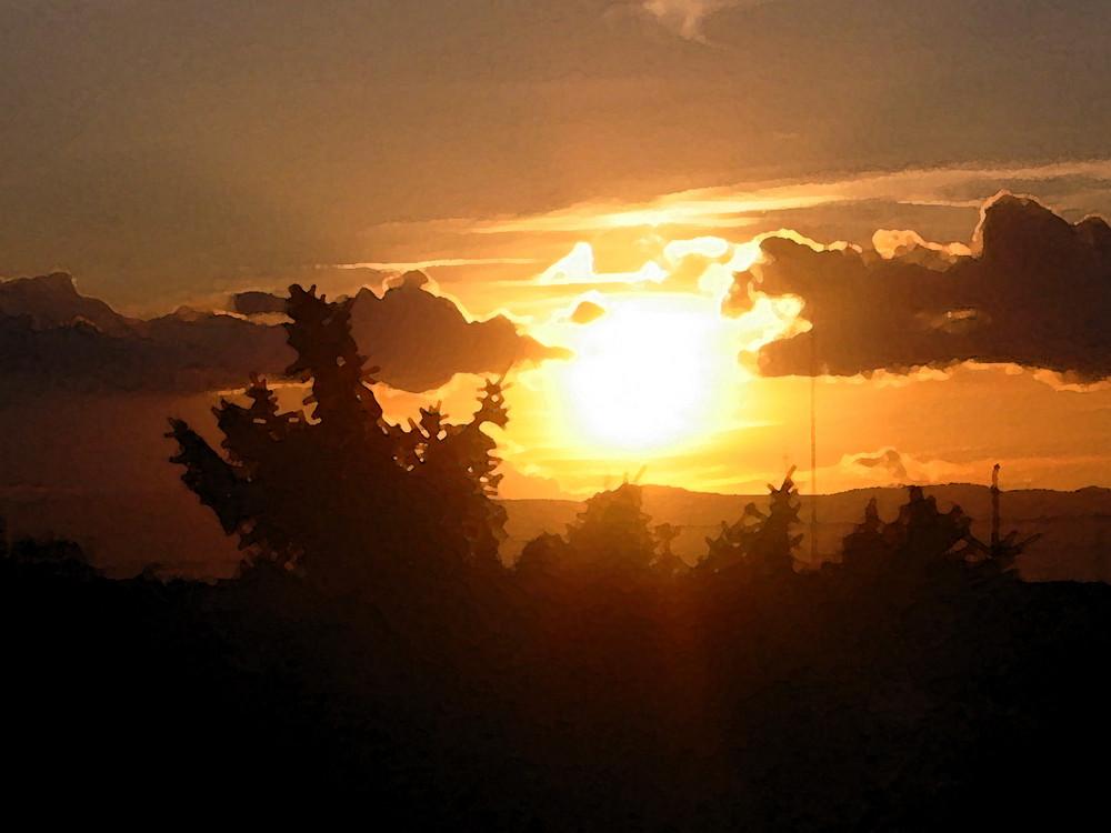 Sonnenuntergang über Maudach