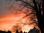 Sonnenuntergang über meine Stadt