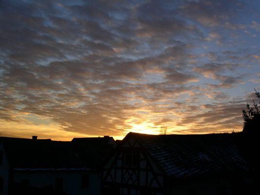 Sonnenuntergang über Mensfelden