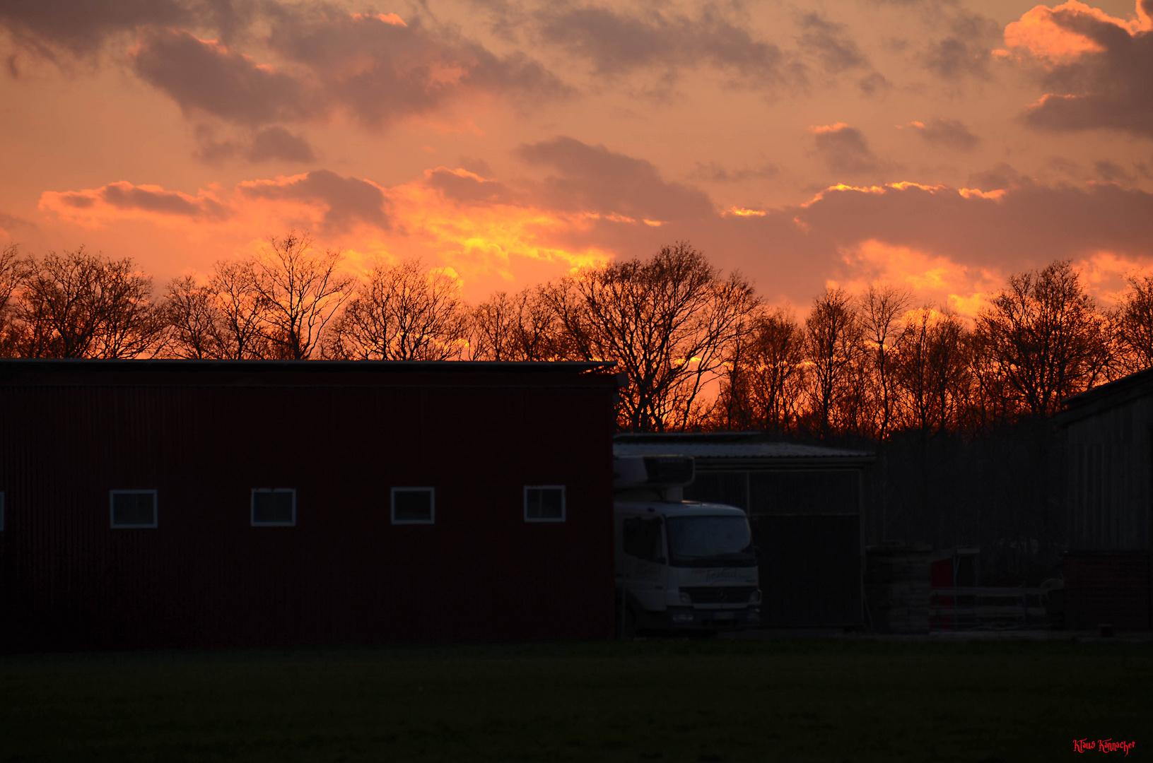 Sonnenuntergang über Meppen