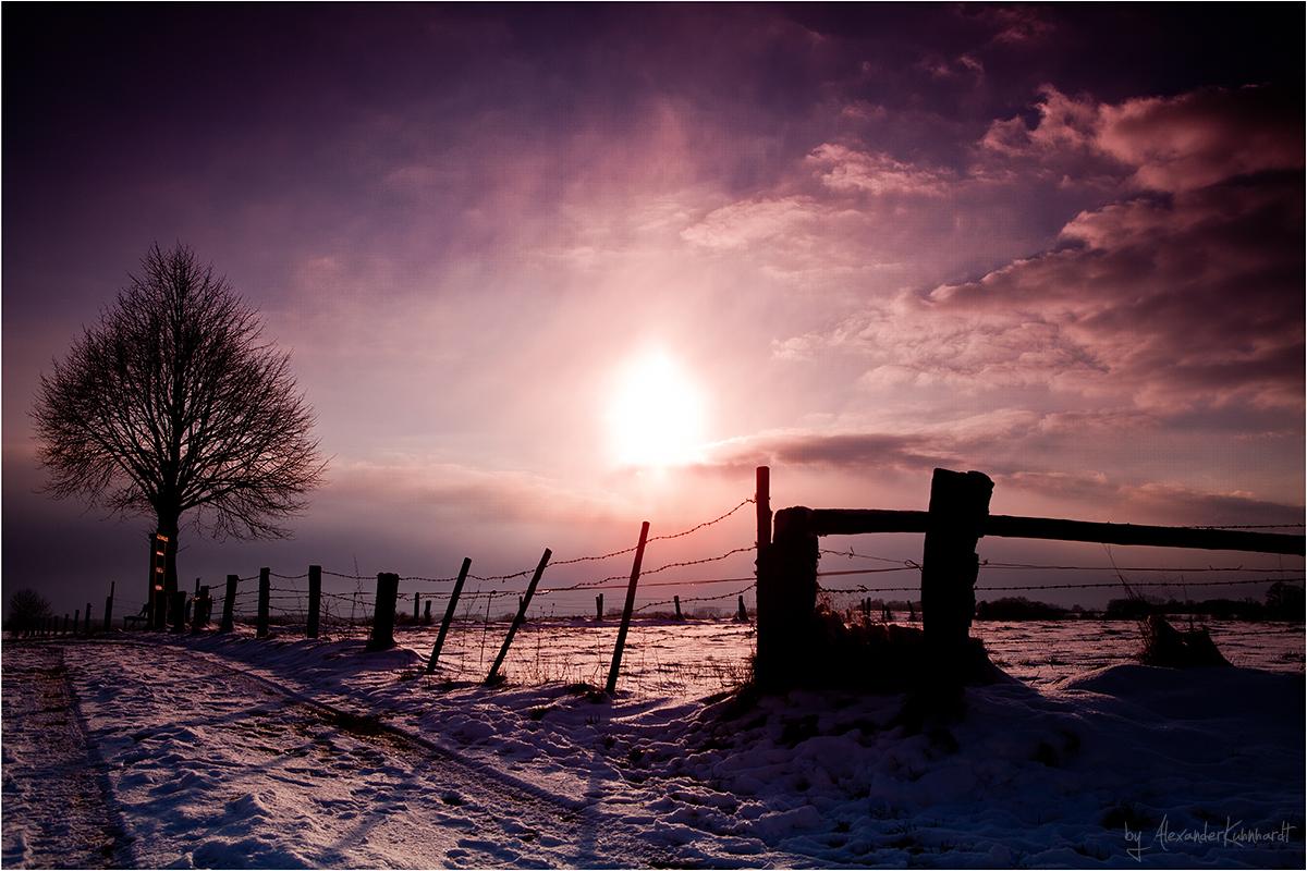 Sonnenuntergang über Much III