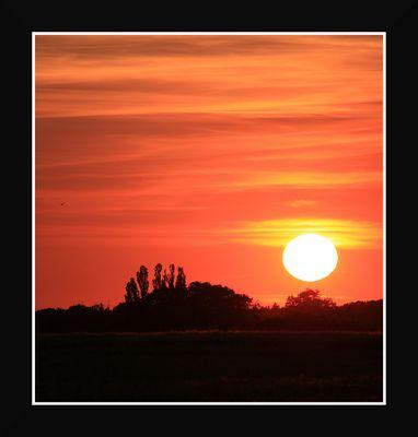 Sonnenuntergang über Neuenkirchen