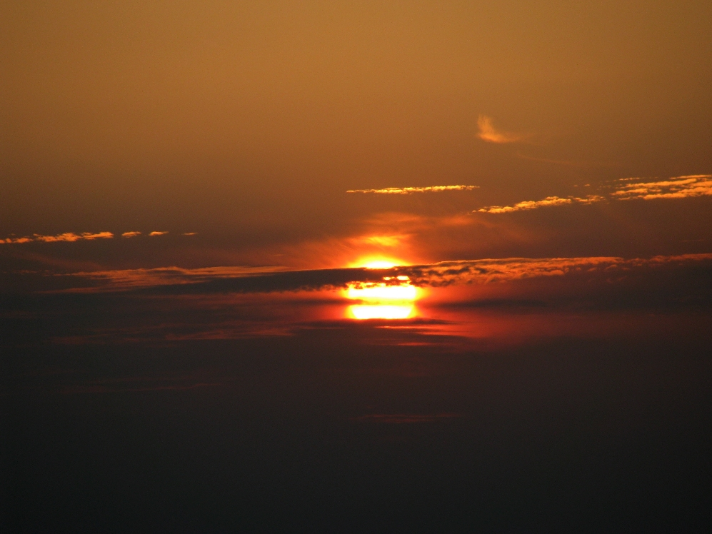 Sonnenuntergang über NRW