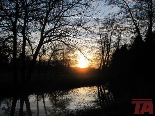 Sonnenuntergang über Oberdorfen