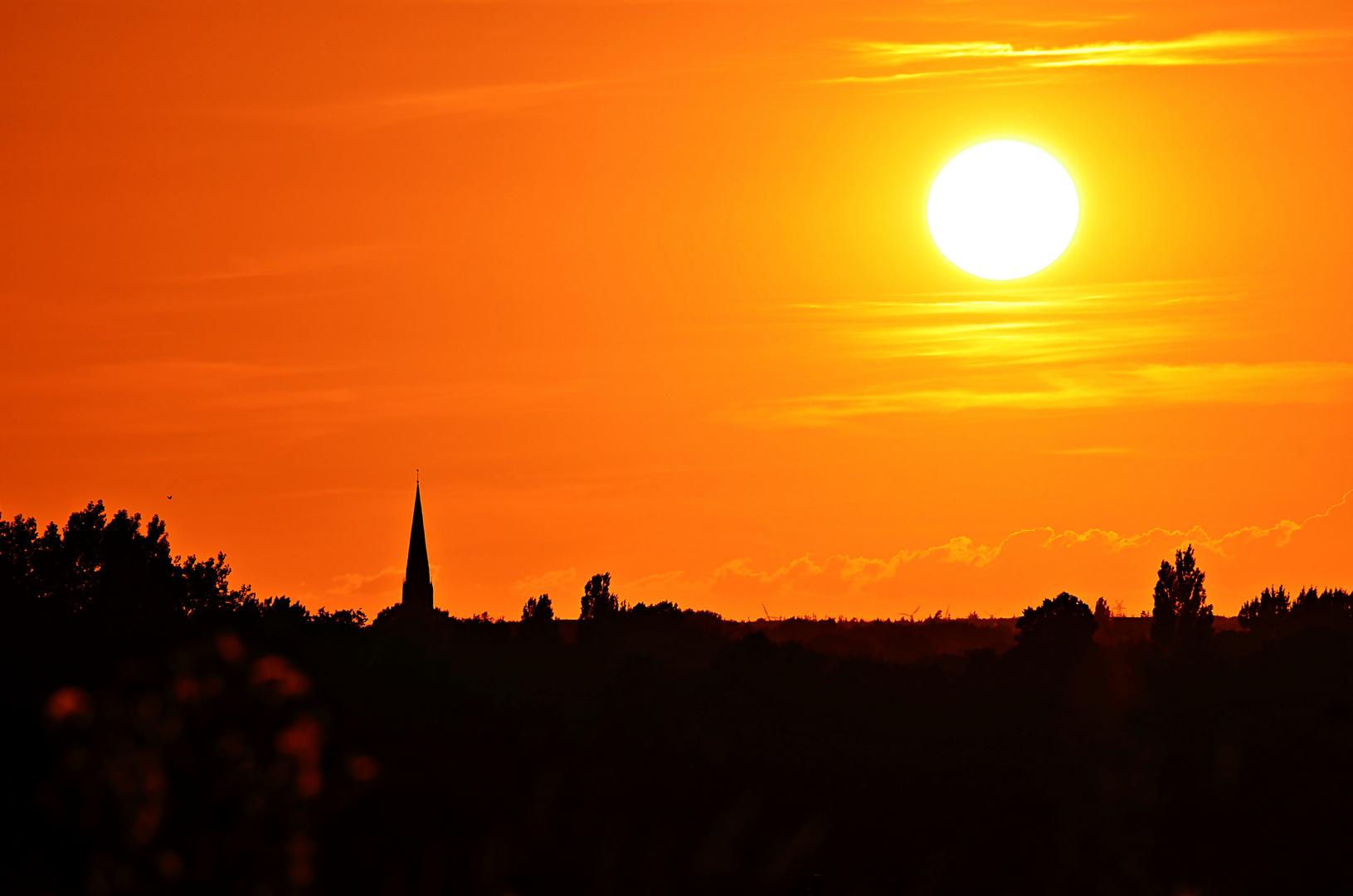 Sonnenuntergang über Oldenburg