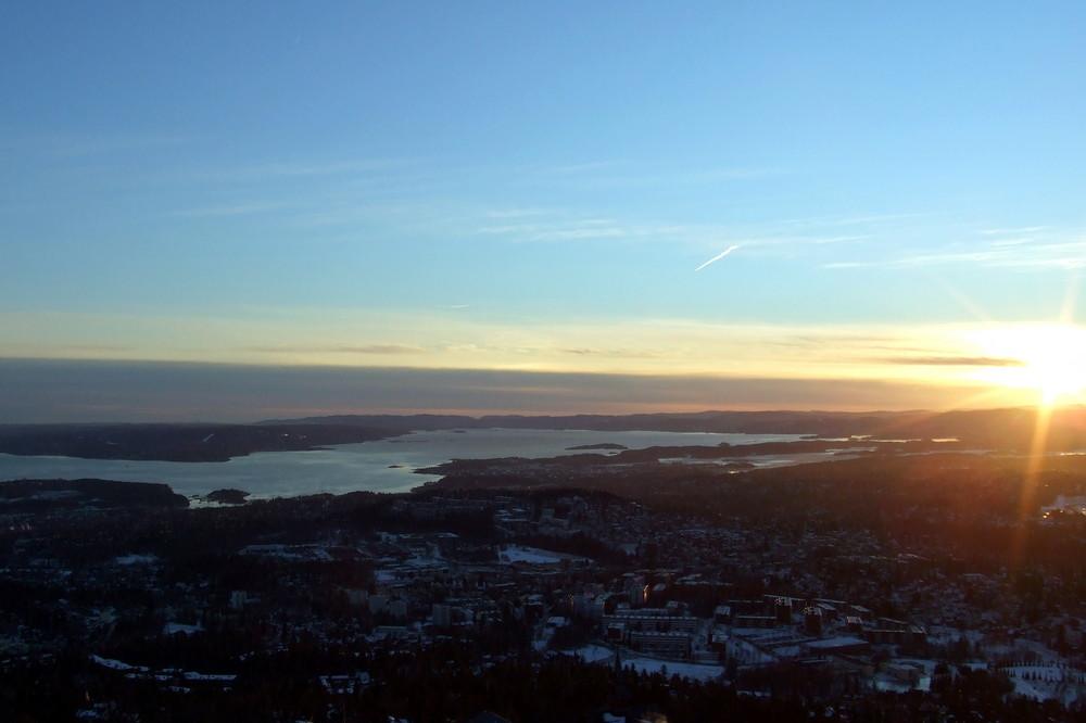 Sonnenuntergang über Oslo