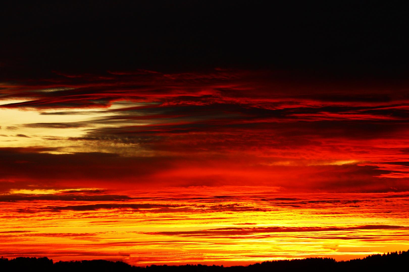 Sonnenuntergang über Overath