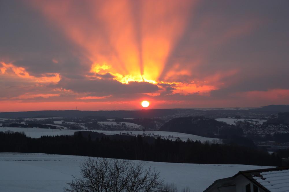 Sonnenuntergang über PASSAU