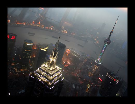 Sonnenuntergang über Pudong
