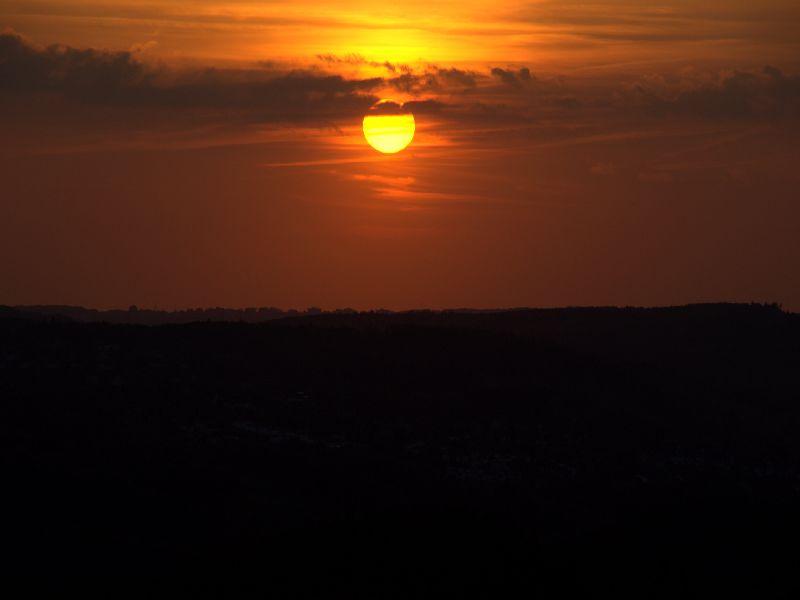 Sonnenuntergang über Radevormwald