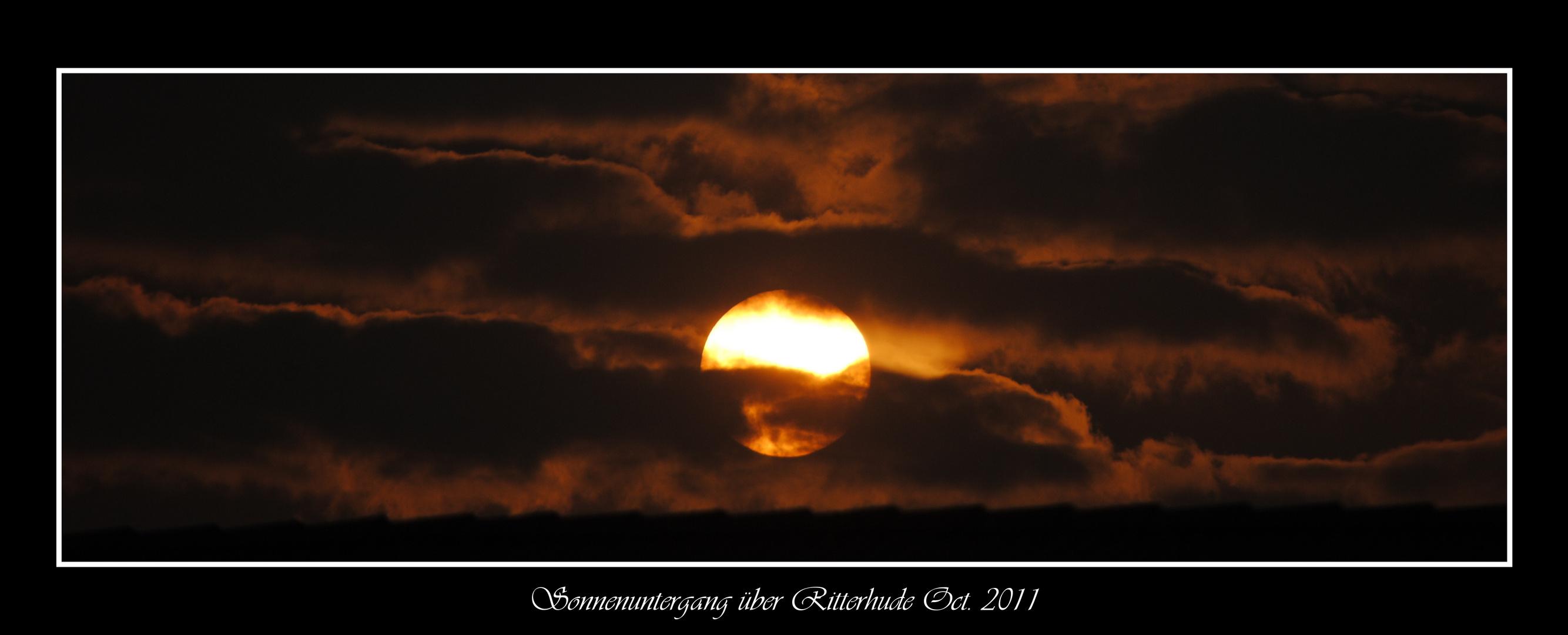 Sonnenuntergang über Ritterhude