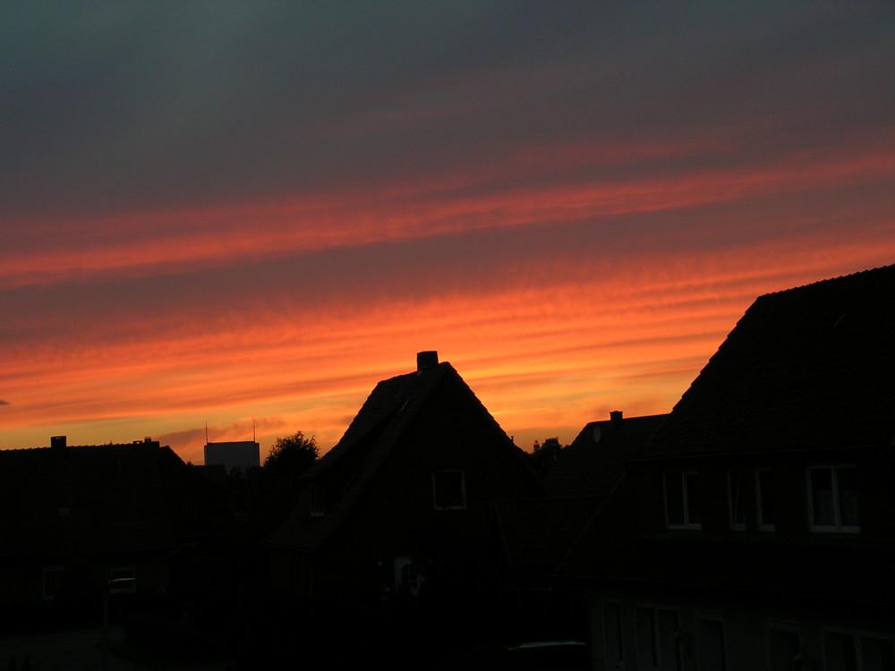 Sonnenuntergang über Sulingen
