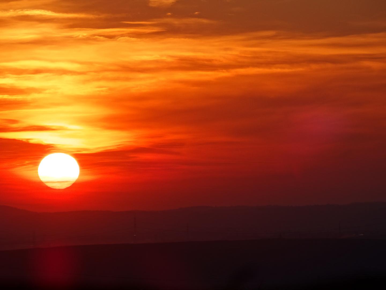 Sonnenuntergang über Talheim
