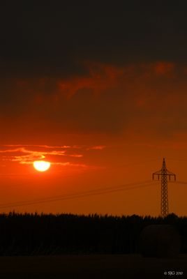 Sonnenuntergang über Tostedt