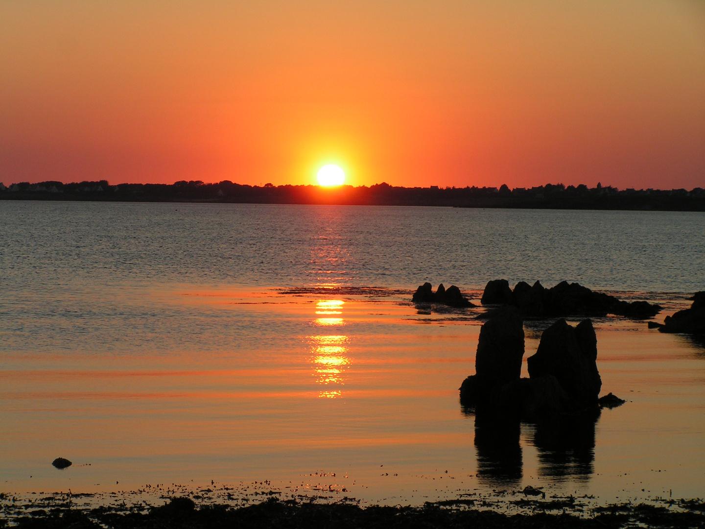 Sonnenuntergang über Trévignon