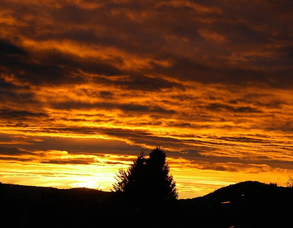 Sonnenuntergang über Vellmar