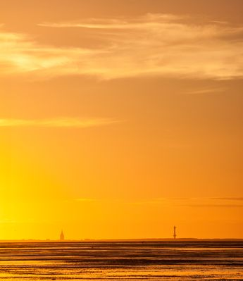 Sonnenuntergang über Wangerooge