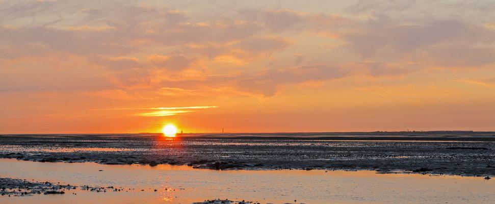 Sonnenuntergang über Wangerooge II