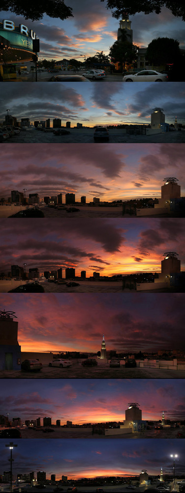 Sonnenuntergang ueber Westwood
