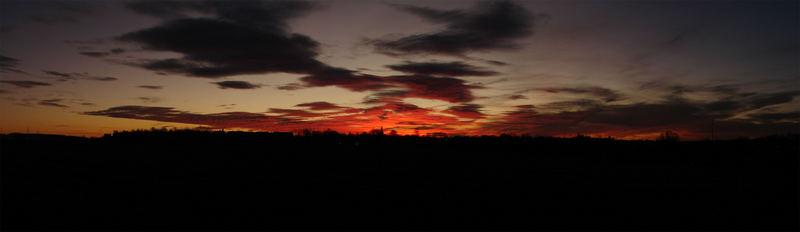 Sonnenuntergang über Wittgensdorf