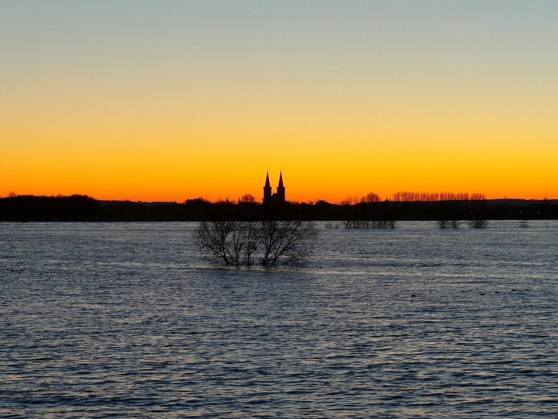 Sonnenuntergang über Xanten