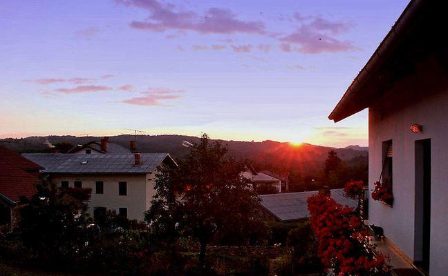 Sonnenuntergang über Zarecje