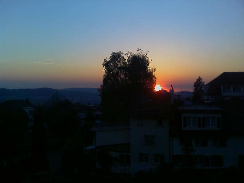 Sonnenuntergang über Zürich