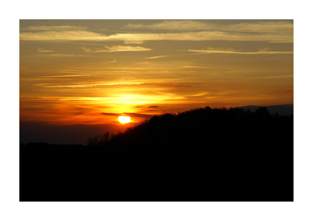 Sonnenuntergang über Zwickau