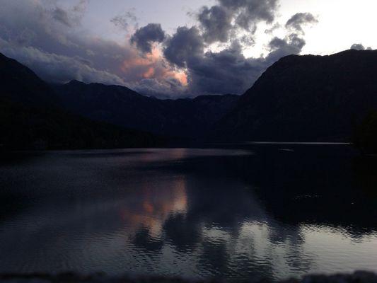 Sonnenuntergang überm Bohinij Jez