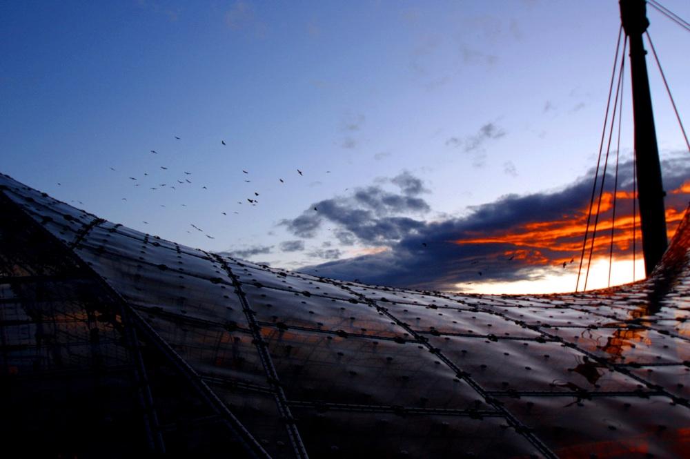 Sonnenuntergang überm Olympiastadion