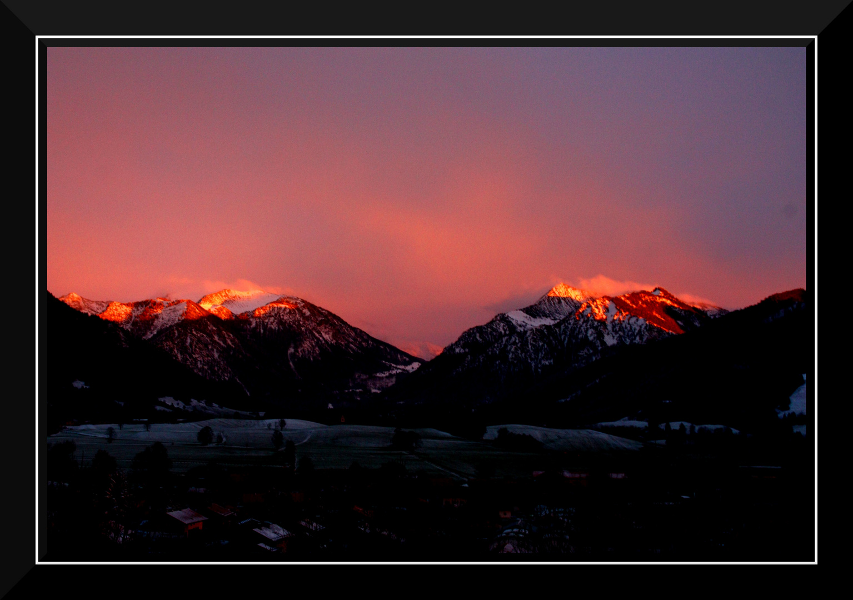 Sonnenuntergang überm Schlierseer Tal