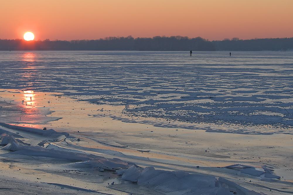 Sonnenuntergang überm Tegeler See
