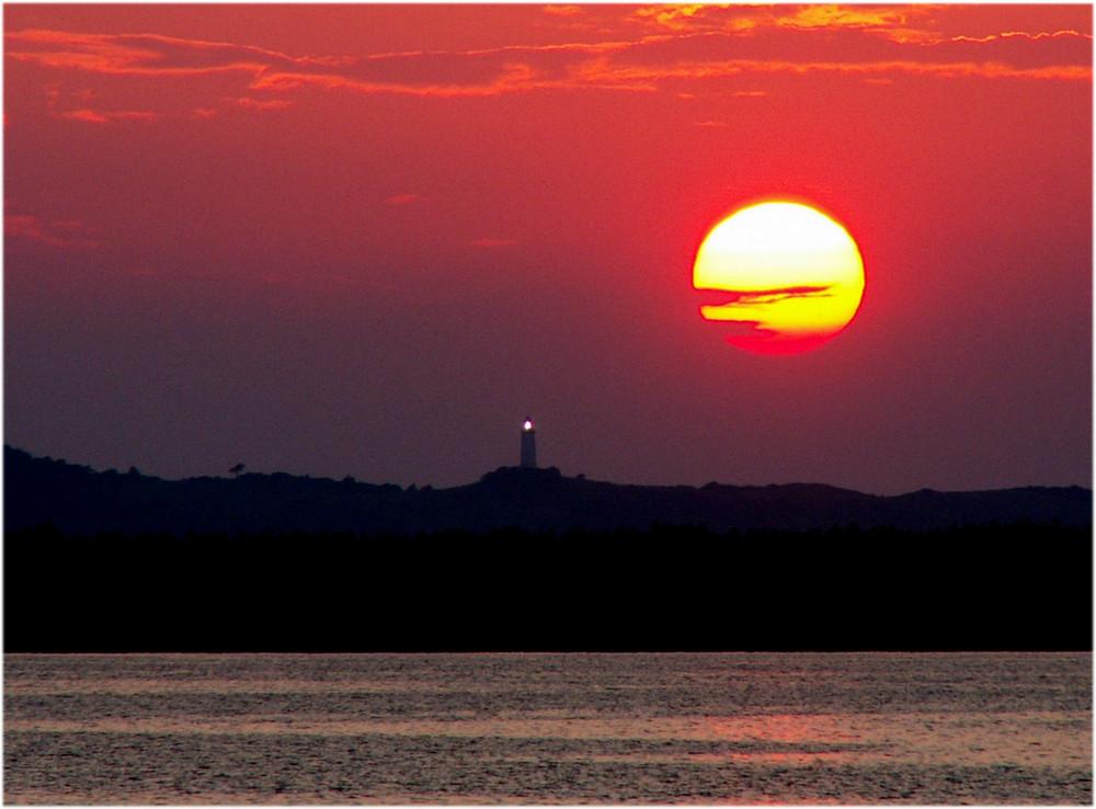 Sonnenuntergang über'n Dornbusch (Hiddensee)