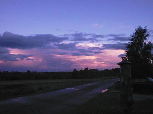 Sonnenuntergang um 22.30 in Schweden