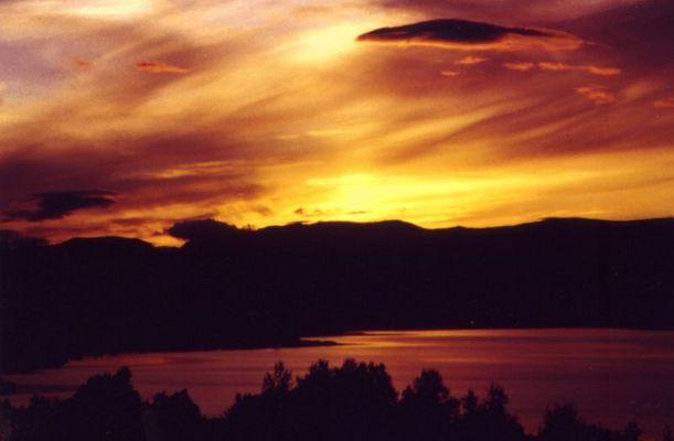 Sonnenuntergang um Mitternacht
