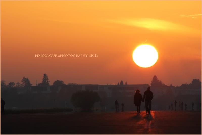 Sonnenuntergang - unbearbeitet
