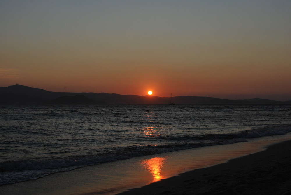 Sonnenuntergang und das Boot