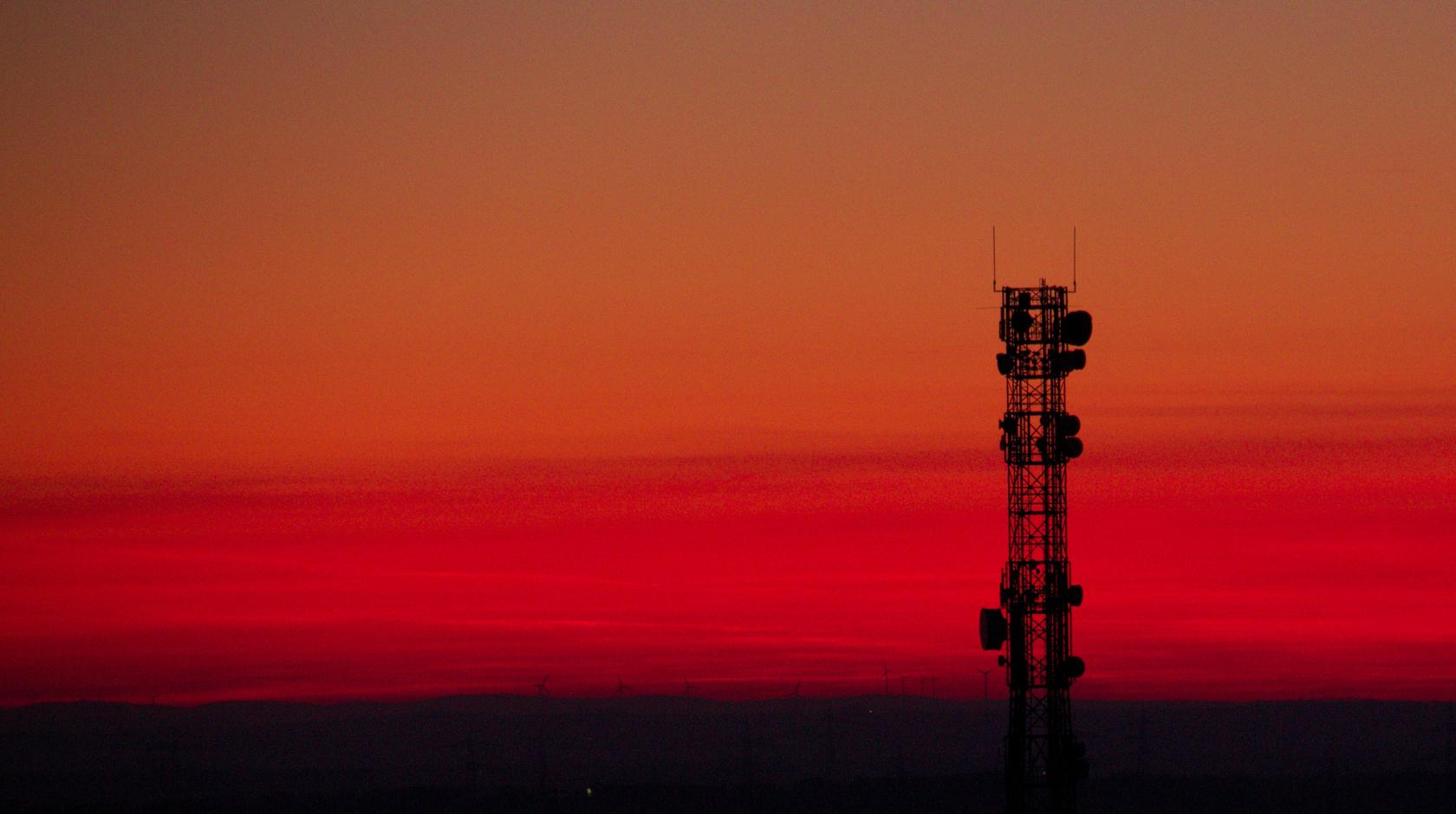 Sonnenuntergang und Technikwahn